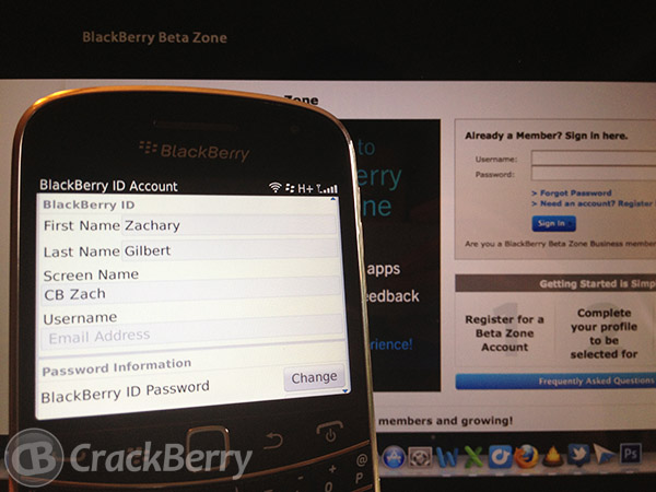 BlackBerry Beta Zone