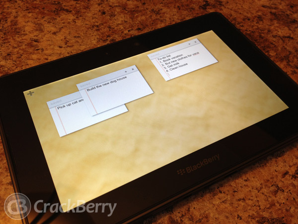 Many Notes for the BlackBerry PlayBook