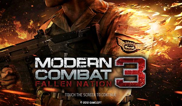 Modern Combat 3 for the PlayBook