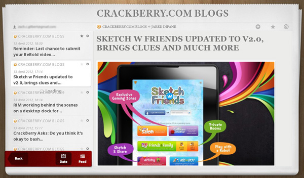 NewsPile for the BlackBerry PlayBook