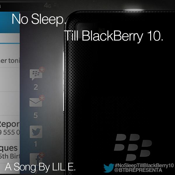 No Sleep Till BlackBerry 10 song