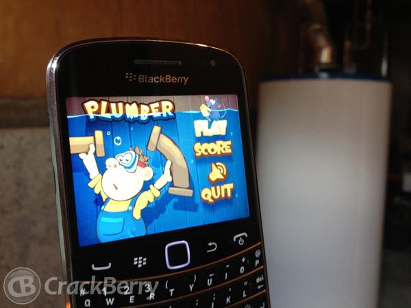 Plumber game for BlackBerry