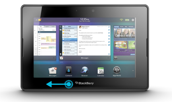 Quick close folders on PlayBook OS 2.0