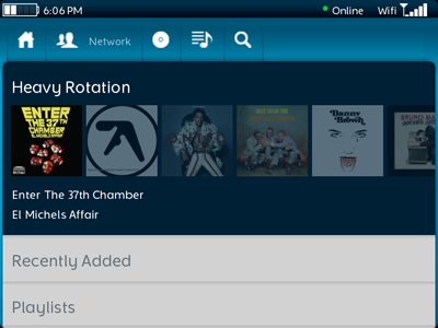 Rdio for BlackBerry
