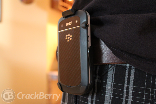 with the Seidio Spring Clip Holster for the BlackBerry Bold 9900
