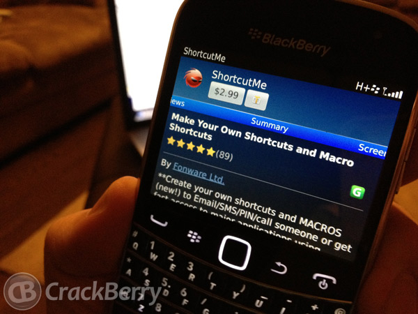 ShortcutMe for BlackBerry