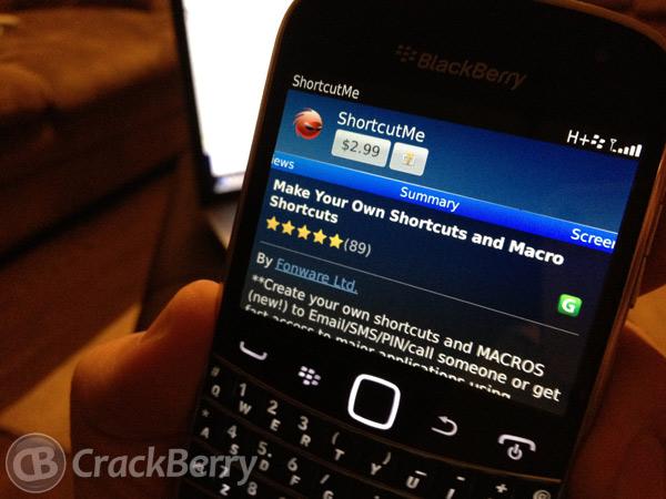 ShortcutMe for BlackBerry