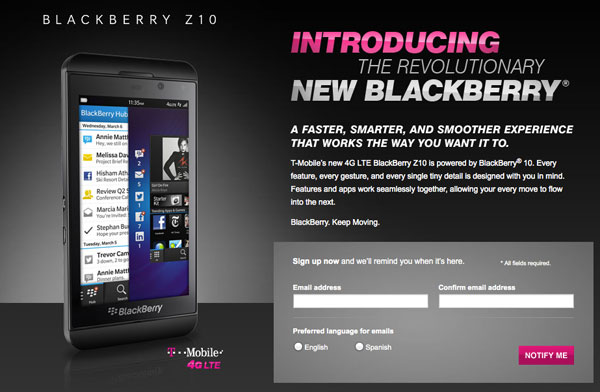 T-Mobile BlackBerry Z10