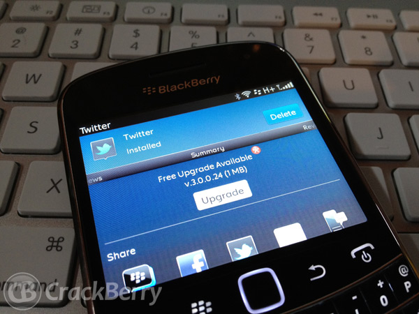 Twitter for BlackBerry ver 3.0.0.24