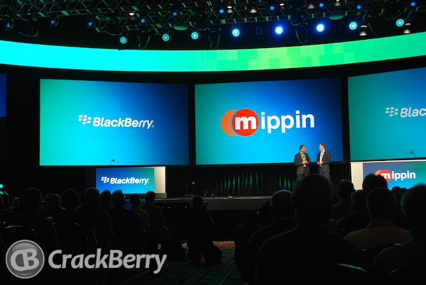 Mippin at BlackBerry World 2012