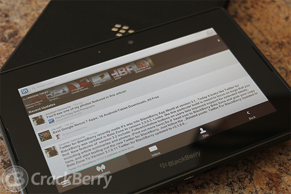 InLink for the BlackBerry PlayBook