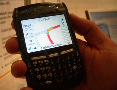 blackberry gps