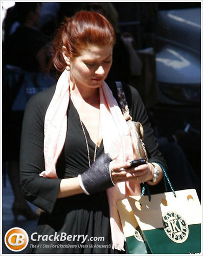 debra messing blackberry