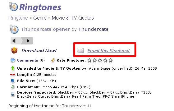 Email Ringtone