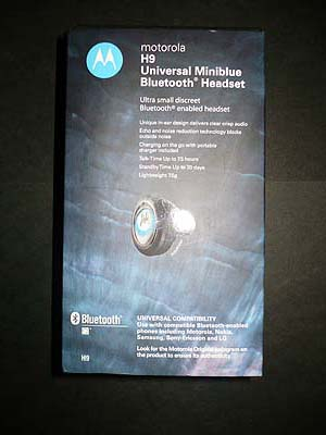 Motorola H9 Packaging