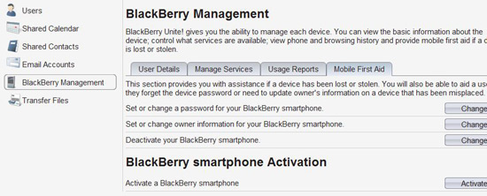 BlackBerry Unite! Software
