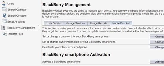 BlackBerry Unite! Software