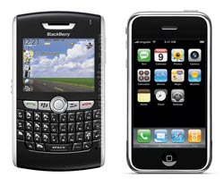 BlackBerry 8800 vs Apple iPhone