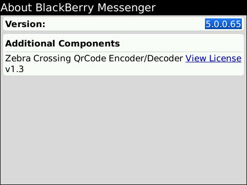 BlackBerry Messenger 5.0.0.65