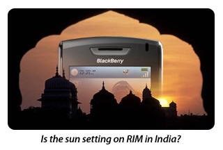 Is the sun setting on RIM in India?