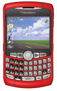 The BlackBerry Curve in Red