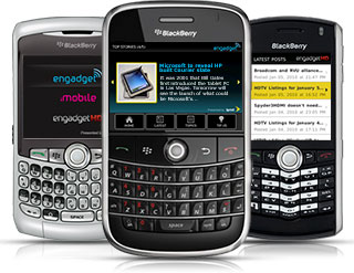 Engadget App for BlackBerry