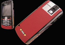 Red Porsche Leather BlackBerry Pearl from Goldstriker
