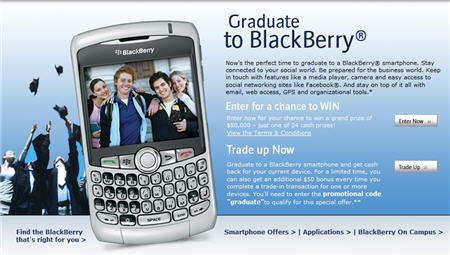 Graduate to BlackBerry Contest