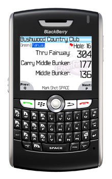 GreenFinder on the BlackBerry 8800