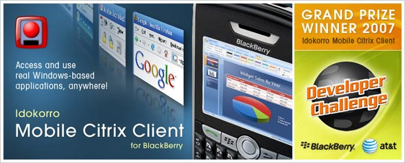 Idokorro Citrix Presentation Server Client for BlackBerry Wins Grand Prize in BlackBerry Developer Challenge