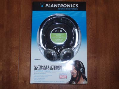 Plantronics Pulsar 590A Bluetooth Stereo Headphones/Headset in the box