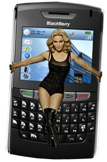 Madonna Loves Her BlackBerry