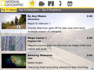 National Geographic for BlackBerry