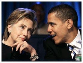 Hillary Clinton and Barack Obama