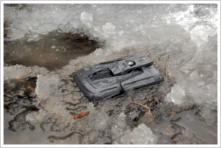 OtterBox Case Trampled on the Ground