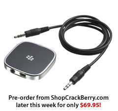 RIM Remote Stereo Gateway Available for Pre-Order Later This Week