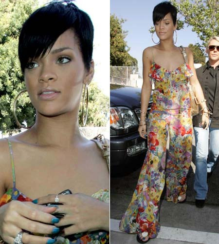 Rihanna and her BlackBerry