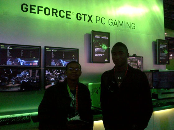 At the NVIDIA Booth