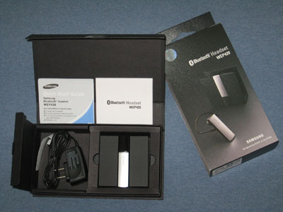 Samsung WEP420 Bluetooth Headset Package Contents