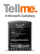 Tellme Voice Based Search for BlackBerry