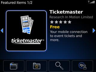 Ticketmaster for BlackBerry