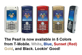 T-Mobile Now Offers 5 Colors for the BlackBerry Pearl