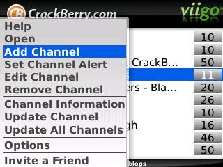 Viigo Channel Options