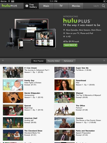 Hulu has arrived on iPhone/iPad, will we see a BlackBerry version?