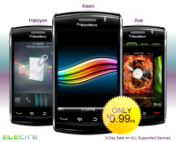 10 Elecite Premium BlackBerry Themes Now On Sale