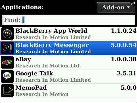Leaked: BlackBerry Messenger 5.0.0.54