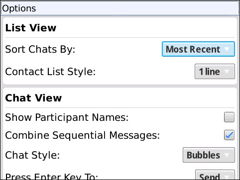 BlackBerry Messenger Style Changes