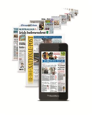 PressReader coming to the Blackberry 10 Platform