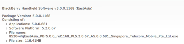 Official OS 5.0.0.681 For The BlackBerry Curve 8520 Released By Singapore Telecom