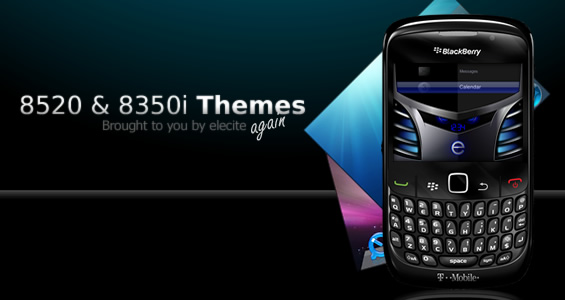 Premium BlackBerry Themes For The Curve 8350i And 8520 Now Available From Elecite